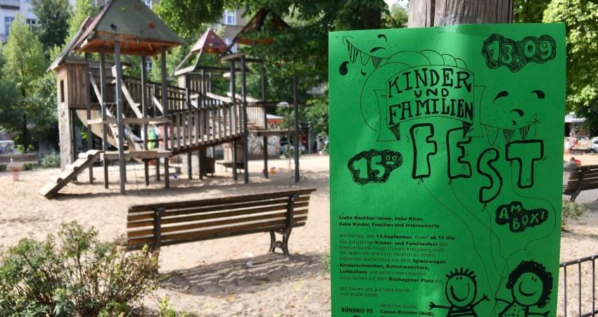 Grünes Kinderfest Boxhagener Platz Berlin