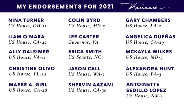 My Endorsements for 2021
