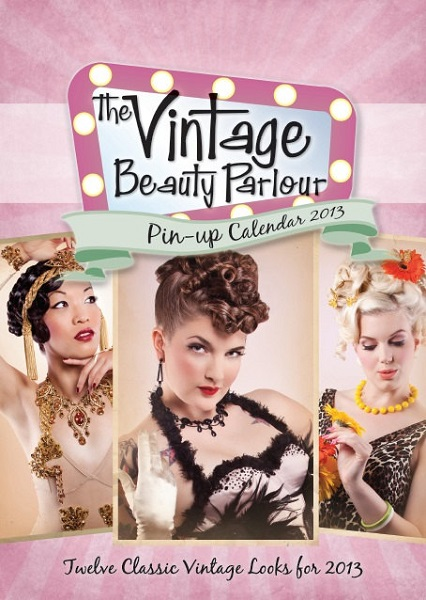 Marianne Cheesecake is on the cover of The Vintage Beauty Parlour pin-up calendar 2013