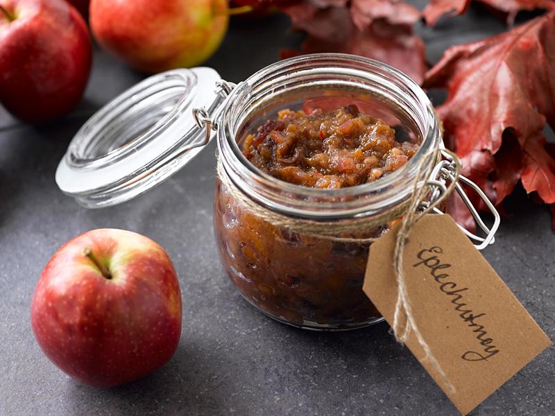 Oppskrift på eple- og tranebærchutney