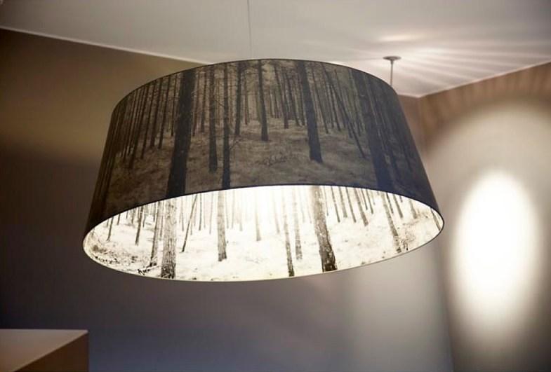 Lampe i suiten på Lysebu
