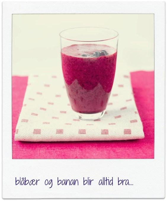 Ingeniørfruens enkle og gode blåbærsmoothie til frokost