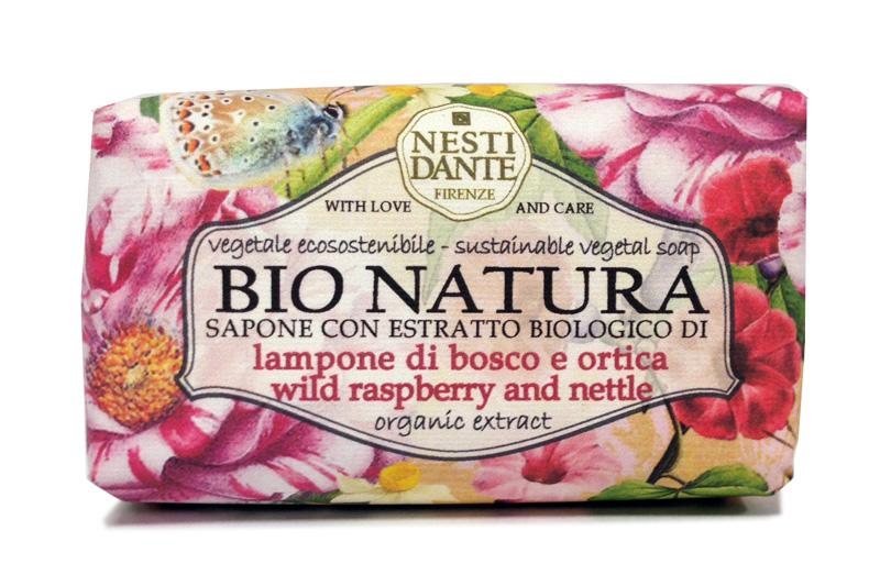 Naturlig såpe fra Nesti Dante med bringebær og brennesle