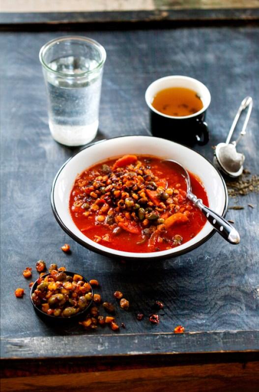 Oppskrift på meksikansk vegetarsuppe med linser