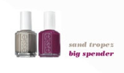 Essie neglelakk i fargene sand tropers og big spender