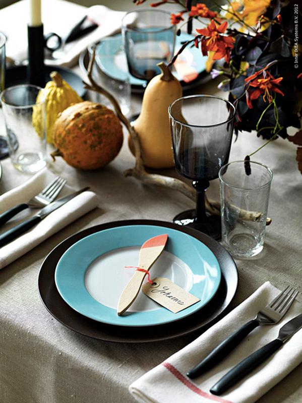 INTERIØRTIPS - BORDDEKKING Moderne og rustikt festbord. ©FOTO: IKEA livet hemma