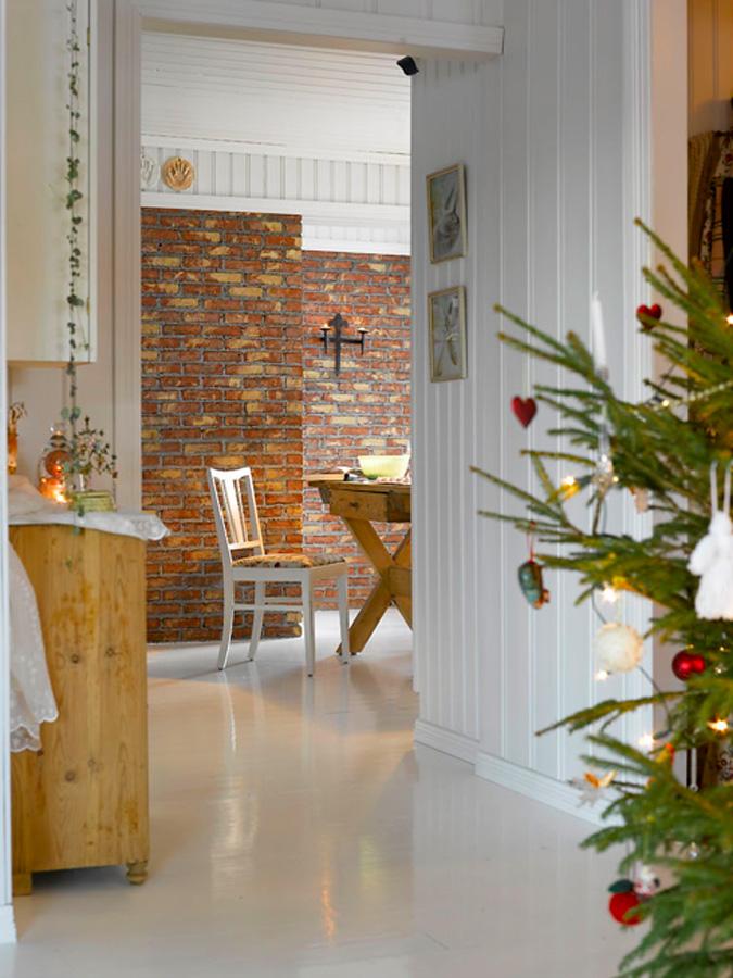 008 INTERIØRTIPS - Hjemme hos Bente - rustikk og romantisk jul ved Mjøsa