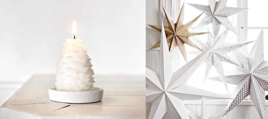 015 INTERIØRTIPS Hvit julepynt FOTO Åhlens
