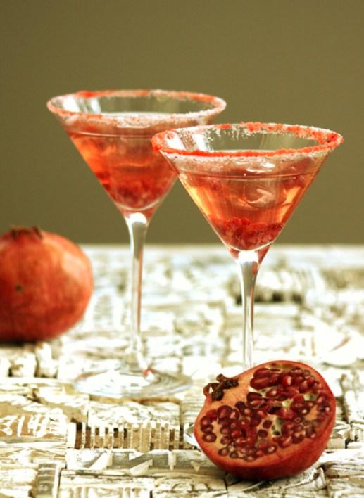Valentines-meny, romantisk cocktail eller drink i rødt