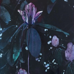 Black Rhododendron painting