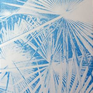 Blue tropics on Aluminium print