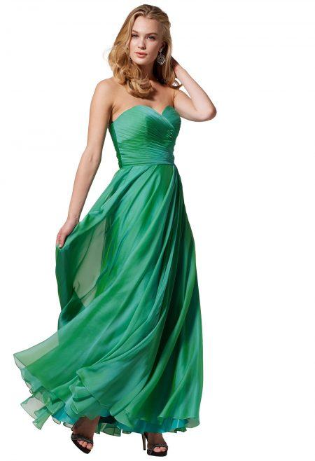 vestidos de fiesta en color verde para la noche