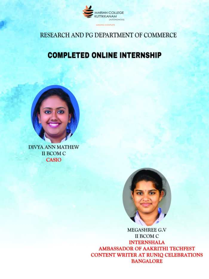 Completed Online Internship
