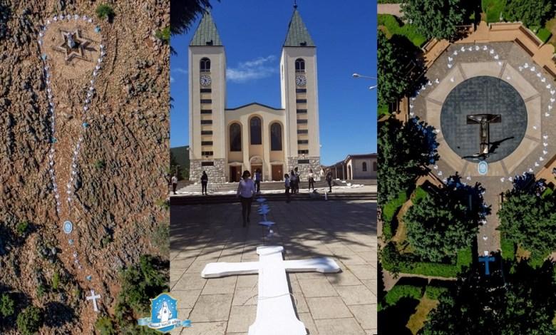 Photo of بالصور: 3 مسابح طول كل منها 50 متر وُضعت حول أماكن الصلاة المُفضّلة في مديوغوريه
