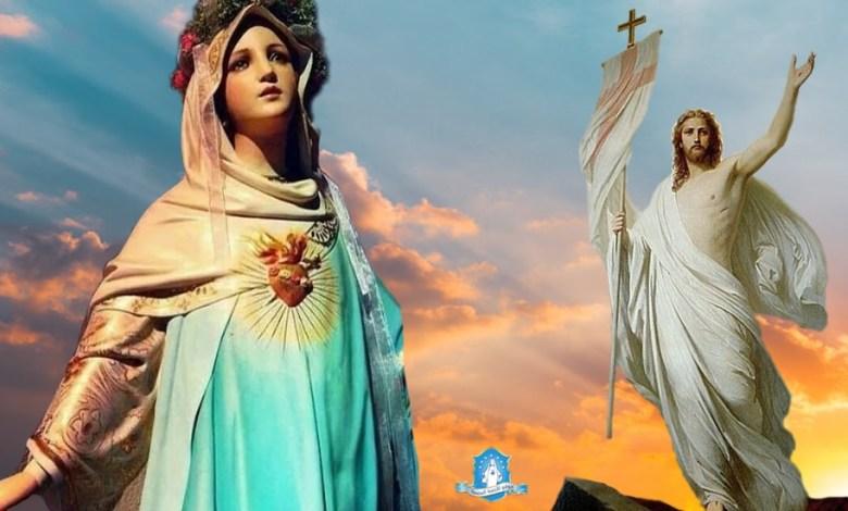 Photo of يسوع المسيح القائم من الموت يظهر لأُمّه العذراء مريم حالًا بعد قيامته!
