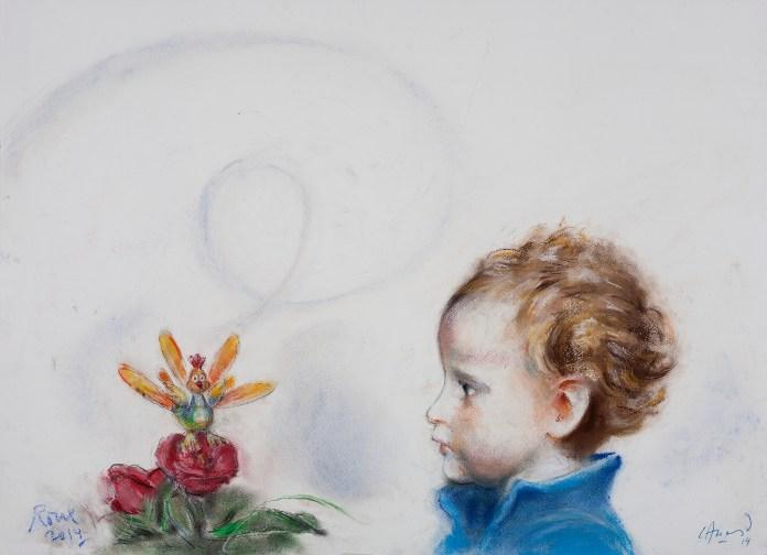 AlonsoRoux - Iñaki - 2014 - Pastel y carbón sobre papel - 56 x 76 cm