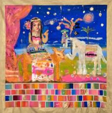 La Reina de la noche o la Cantante de Boleros - técnica mixta sobre tela- 180 x 190 cm-2013