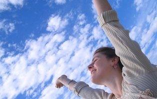 девушка и небо