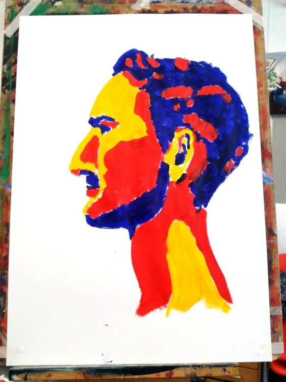 portrait 6. Primary colours.