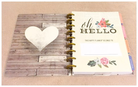 Inside the Floral Fresh Happy Planner