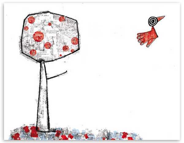 Dibujo de Pájaro para una nana