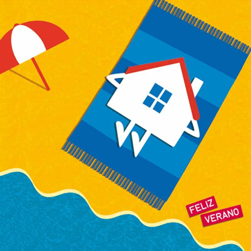 Ilustración para la tarjeta Feliz verano
