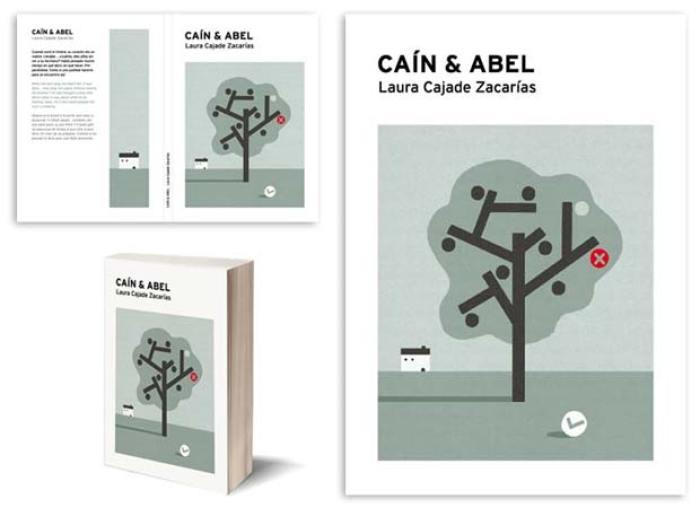 Demo del diseño de portada y contra: Caín & Abel