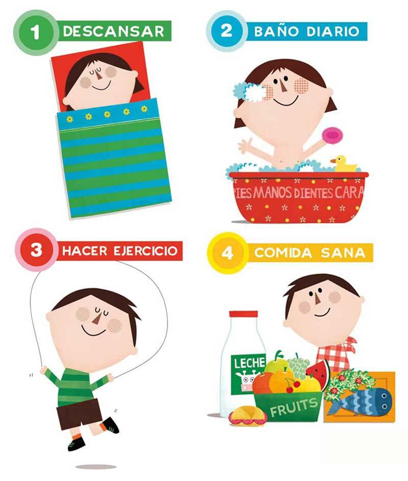 Ilustraciones Educación para la salud