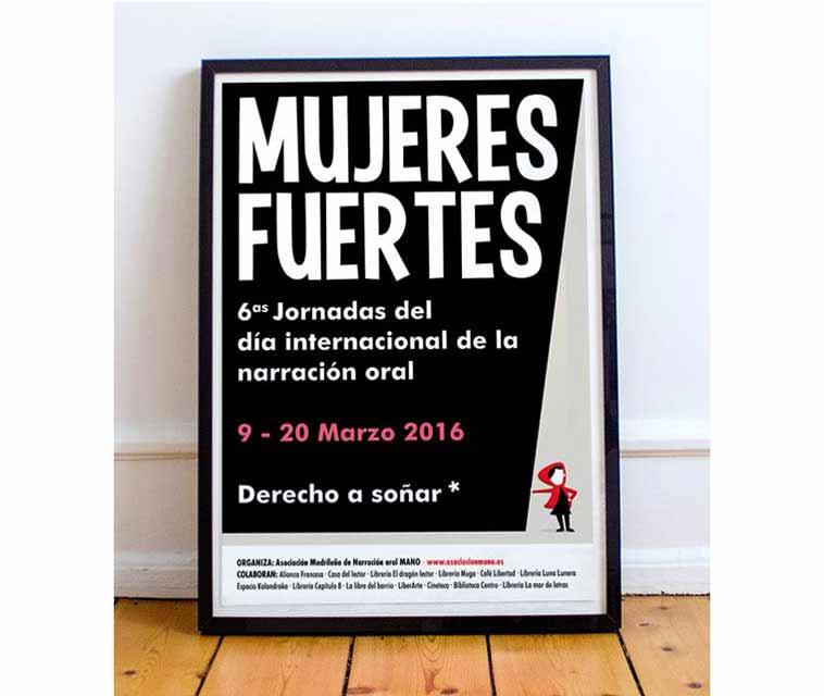 Poster para el día narracion oral: mujeres fuertes - María Reyes Guijarro