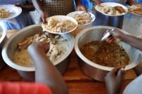 Ziegenfleisch m. Reis und Gemüse