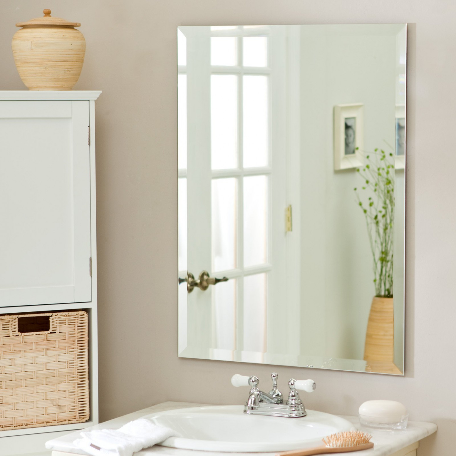 Décor Wonderland Frameless Leona Wall Mirror - 23.5W x 31 ...