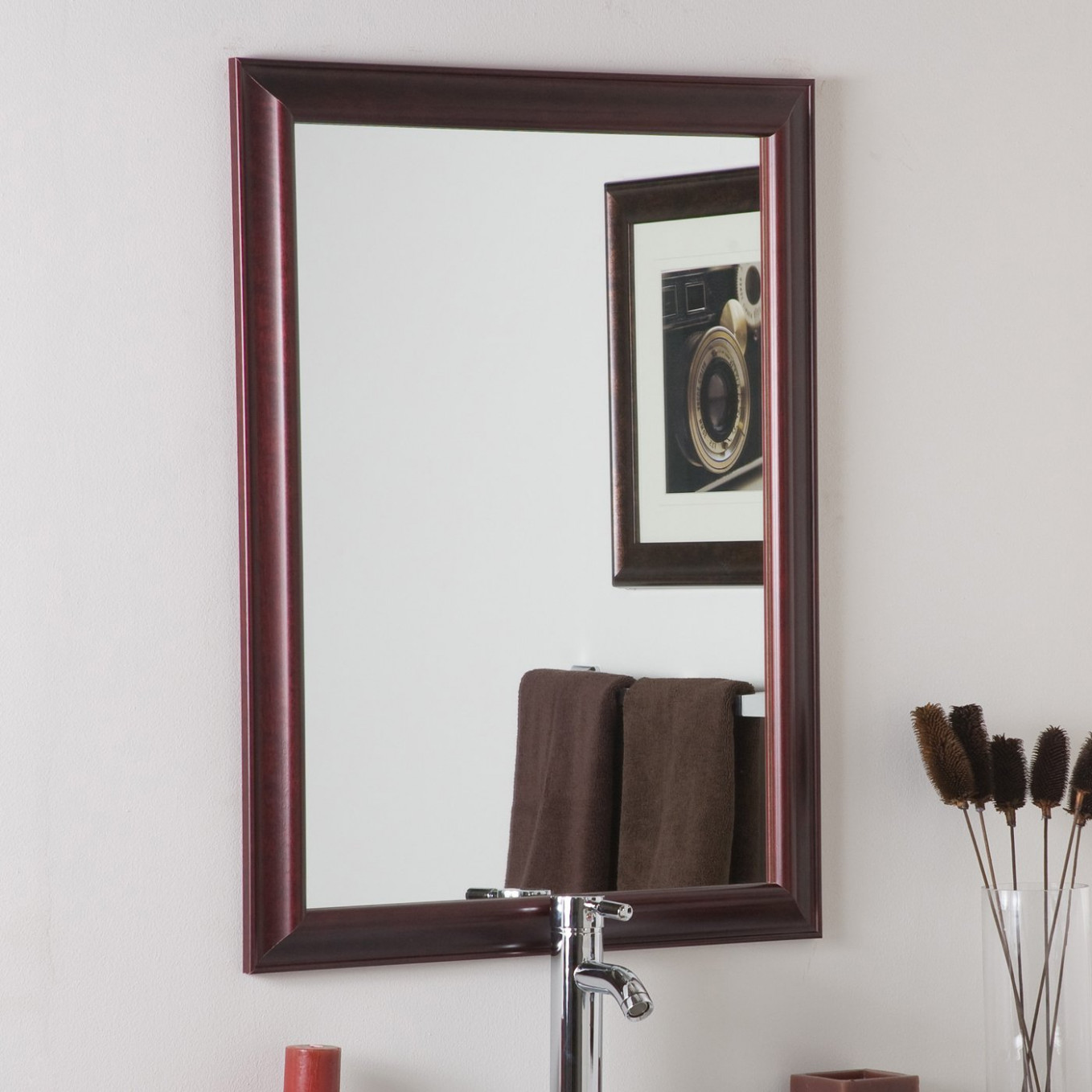 Decor Wonderland SSM73 London Mahogany Framed Wall Mirror ...
