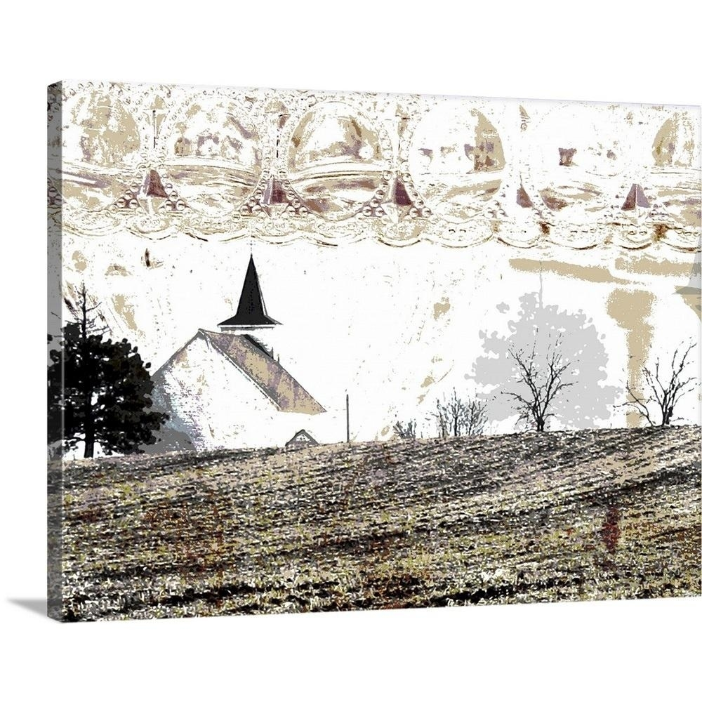 "greatbigcanvas ""country church""peter horjus canvas wall art within Country Wall Art"