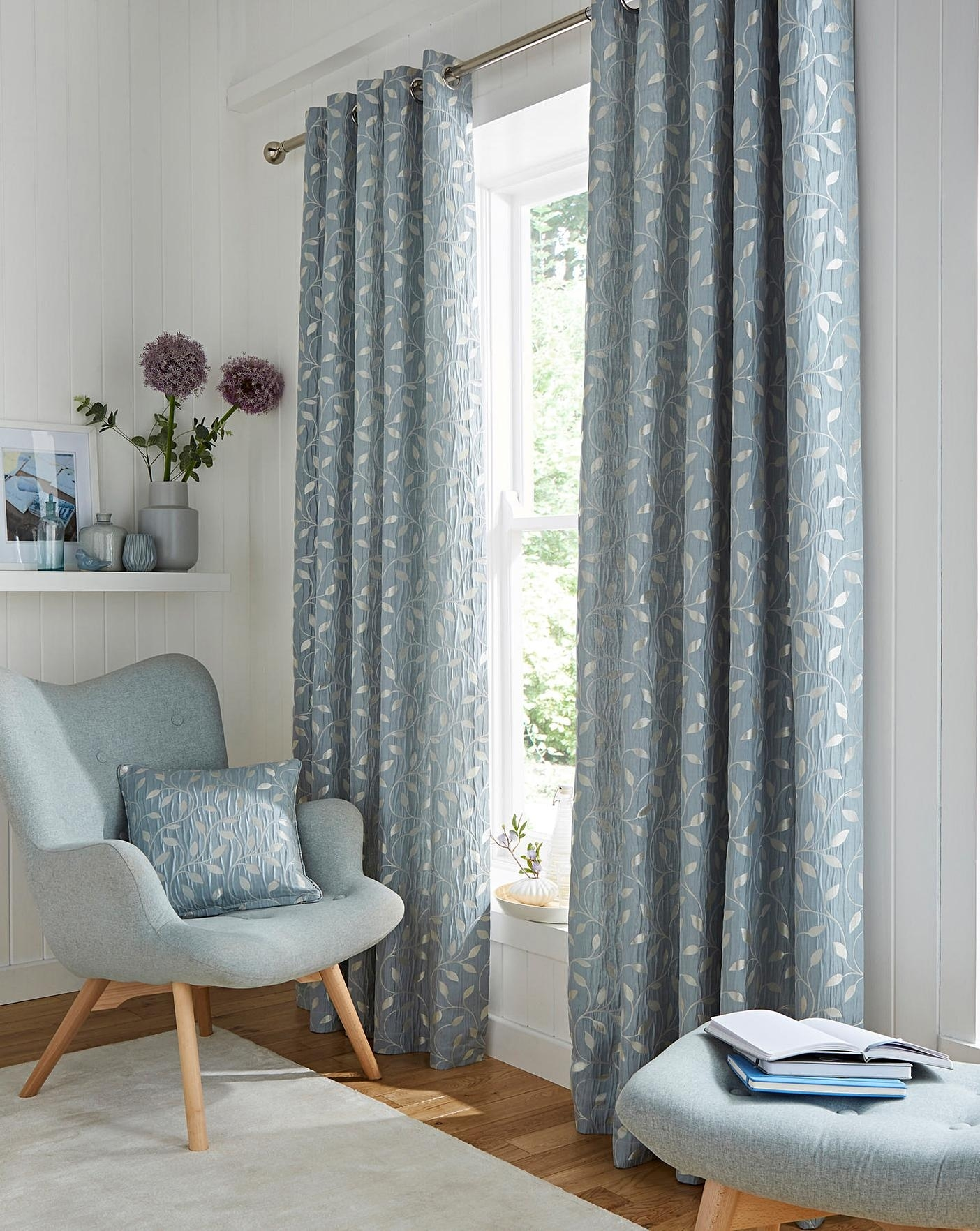leaf trail jaquard lined eyelet curtains | simply be inside Perfect Curtain For Your Home