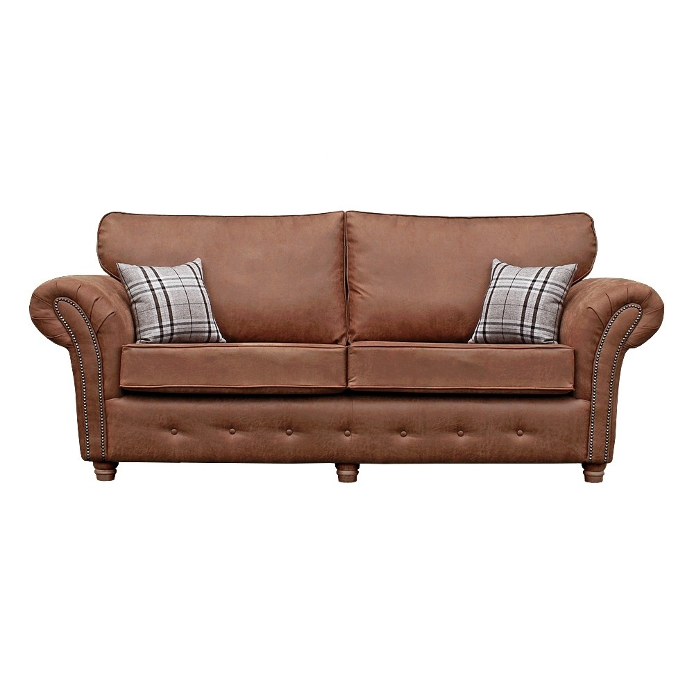 oakley country style tan sofa collection in leather-like fabric within Country Style Sofa