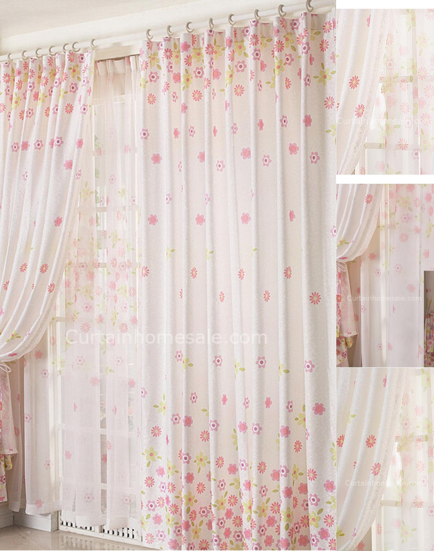 romantic eco friendly floral printing style country curtains sale within Country Curtains