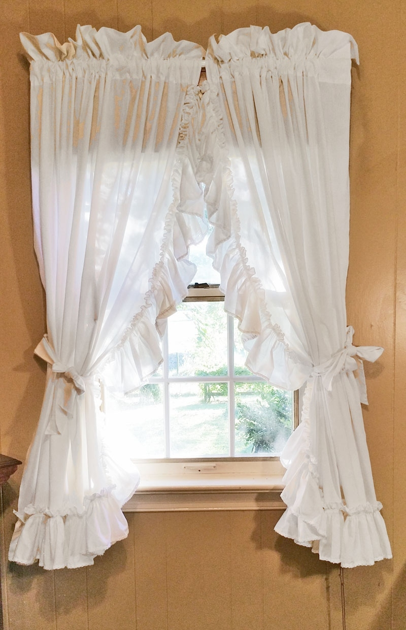 ruffled country curtains, white intended for Country Curtains