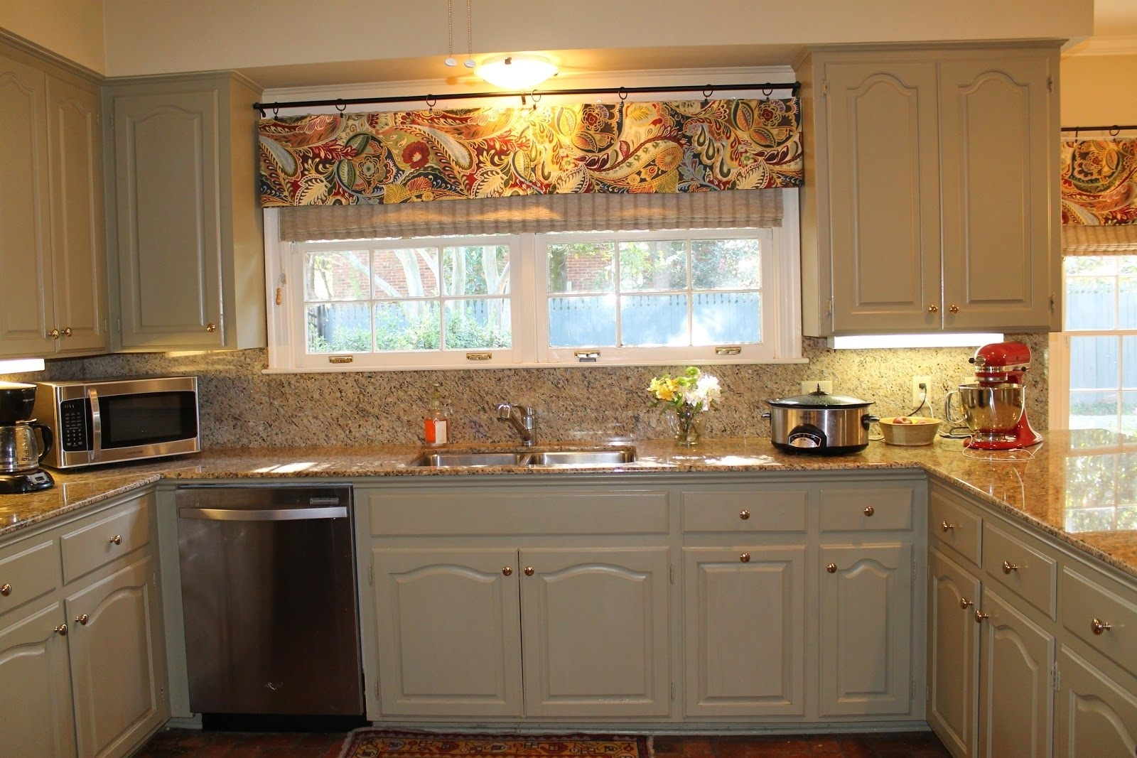 wonderful red kitchen curtains target ideas valance kohls tiers intended for Beautiful Kitchen Curtains