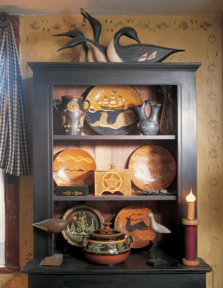 3 ideas for decorating with primitives and folk art - old house pertaining to Primitive Crafts Decor