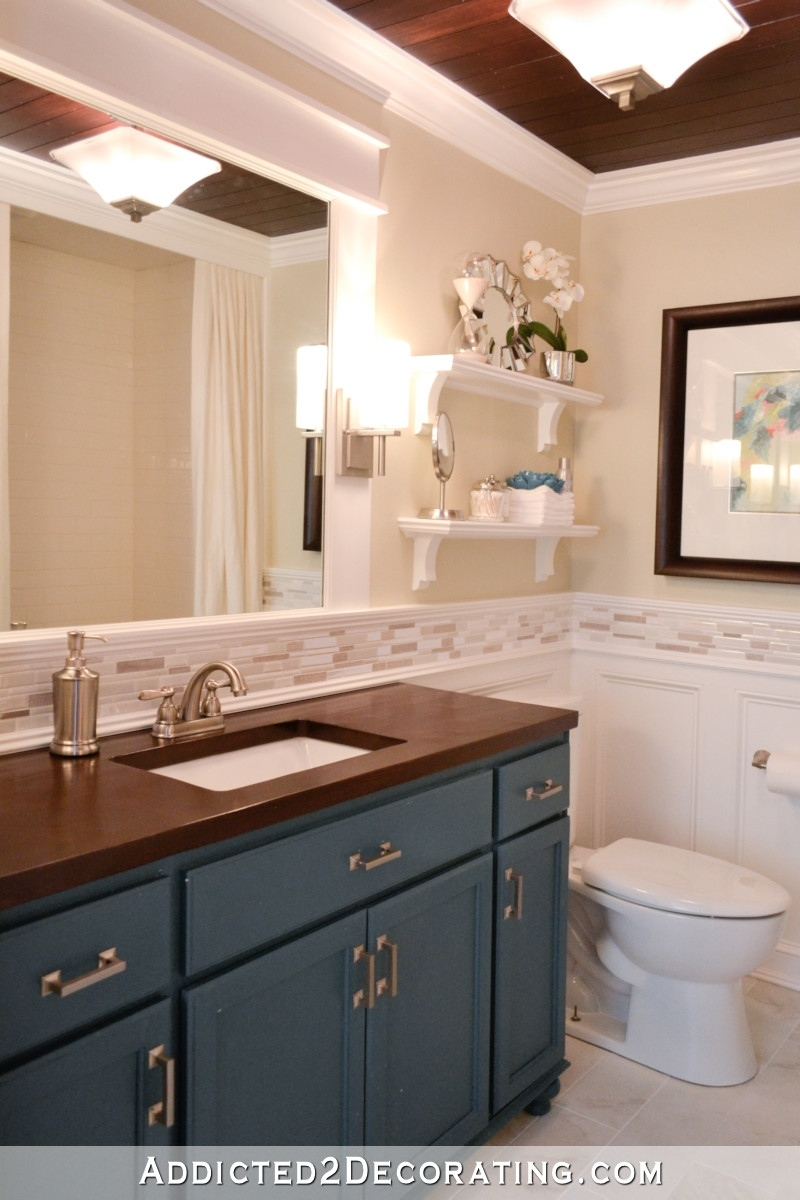 diy bathroom remodel before and after - addicted 2 decorating® inside Tips for Decorating The Bathroom