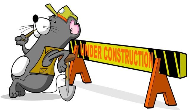 tecknad bild om budskapet Under arbete