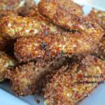 Crispy Bacon Crusted Mozzarella Sticks