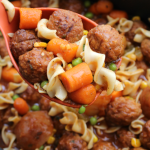 EASY CROCK POT MEATBALL STEW