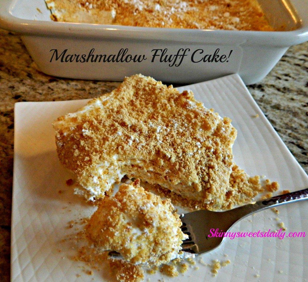 Blueberry Fluff Angel Food Cake