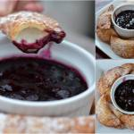 CREAM CHEESE DUMPLINGS WITH BLUEBERRY SAUCE