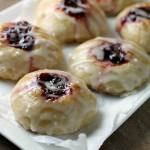 RASPBERRY THUMBPRINT DONUTS