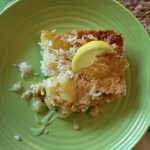 Tropical Lemon Dump Cake with Coconut Topping