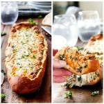 EASY SPINACH DIP FRENCH BREAD