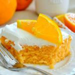 SKINNY ORANGE CREAMSICLE POKE CAKE