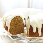 PUMPKIN CAKE WITH VANILLA ICING